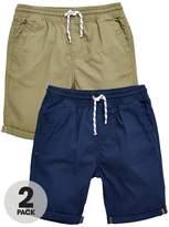 Very 2pk Woven Shorts Khaki Nvy