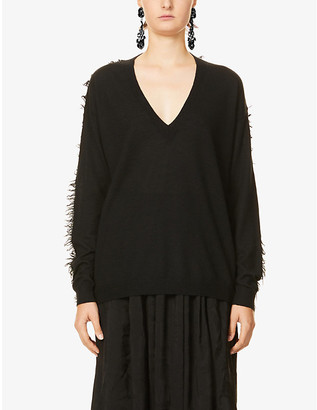 UMA WANG V-neck cashmere jumper