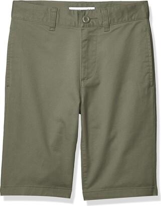 Amazon Essentials Kids Boys Woven Flat-Front Khaki Shorts Navy Blue-9 UK Regular