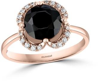 Effy Jewelry Onyx Fashion with Diamonds in 14K Rose Gold, 1.9 TWC