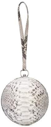 Gelareh Mizrahi Round Ball Clutch in Black & White Natural