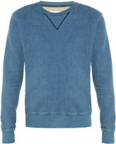 Maison Margiela Crew-neck denim-jersey sweater