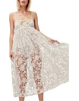 For Love & Lemons Sundae Tank Midi Dress