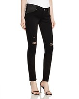 Paige Verdugo Skinny Maternity Jeans in Black Shadow Destructed