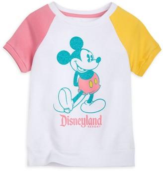 Disney Mickey Mouse Raglan T-Shirt for Girls Disneyland