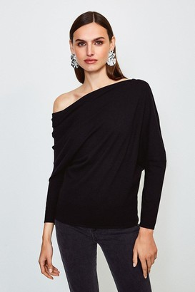 Karen Millen Drape Shoulder Knitted Top
