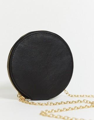 Urban Code Urbancode circular cross body purse bag in black suede