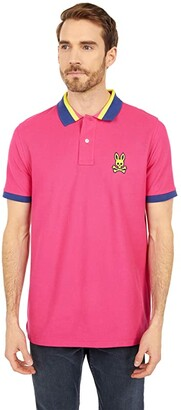 Psycho Bunny Hepthorn Polo (Raspberry) Men's Clothing