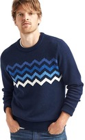 Gap Chest-chevron crew sweater