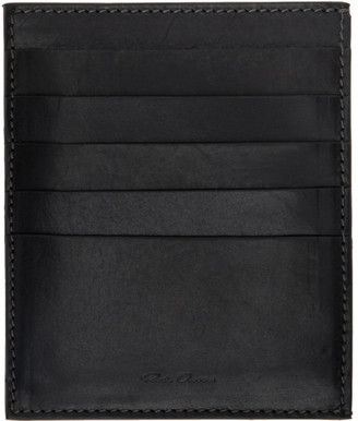 Rick Owens Black Credit Card Holder