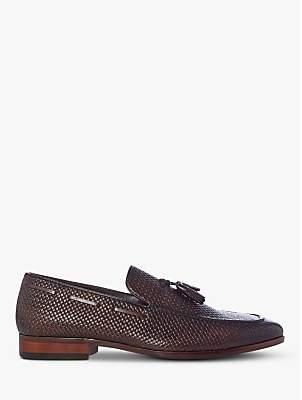 Dune Simons Textured Tassel Leather Loafers