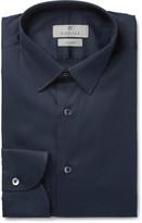 Canali - Blue Slim-fit Stretch Cotton-blend Shirt