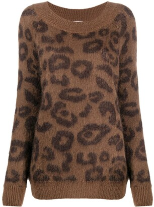 P.A.R.O.S.H. Leopard-Print Knitted Jumper