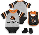 NFL Cincinnati Bengals Size 24M 3-Piece Creeper Bib and Bootie Set
