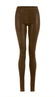 Ellesd Light Brown Leather Leggings