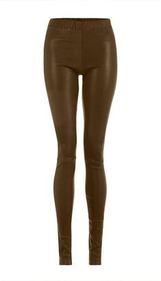 Light Brown Leather Leggings