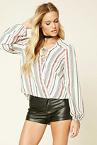 Forever 21 FOREVER 21+ Contemporary Striped Top