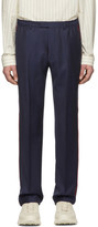 Gucci Blue Wool Fine Dots Trousers