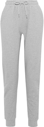 Iris & Ink Melange French Cotton-blend Terry Track Pants