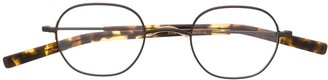 Eyevan 7285 Tortoiseshell Detail Round Glasses
