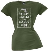 Tee's Plus Keep Calm And Carry One Military Juniors T-Shirt