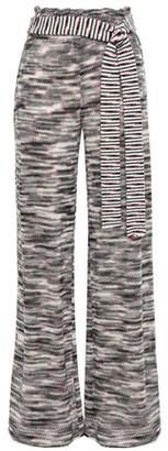 Missoni Belted Crochet-knit Wool Wide-leg Pants