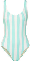 Solid and Striped - The Anne-marie Striped Swimsuit - Sky blue