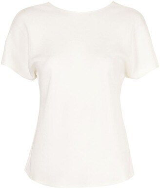 GOODIOUS Georgette V-back T-shirt