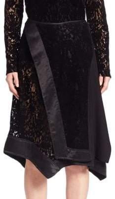 Donna Karan Faux Wrap Lace Skirt