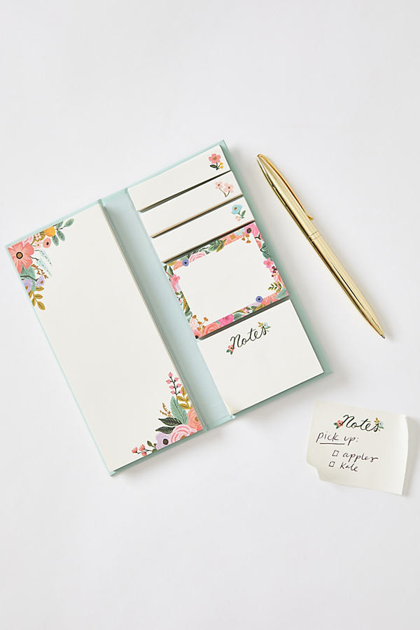 Rifle Paper Co. Garden Party Sticky Note Folio By Rifle Paper Co. in Blue