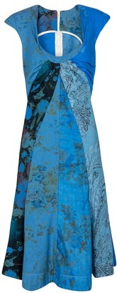 Marine Serre Exclusive to Mytheresa Printed regenerated cotton minidress