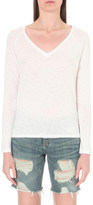 Sundry Long-sleeved cotton-jersey top