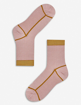 Hysteria By Happy Socks Lily knitted ankle socks