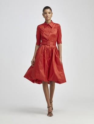 Oscar de la Renta Silk-Taffeta Cocktail Dress