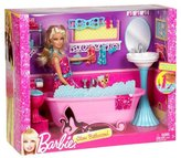 Barbie Glam Bathroom Furniture and Doll Set