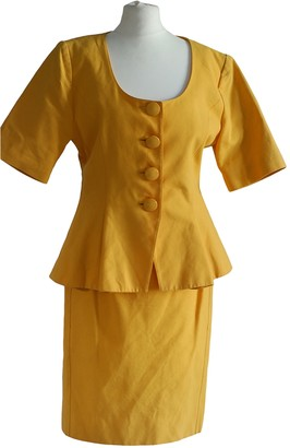 Guy Laroche Yellow Cotton Jacket for Women Vintage