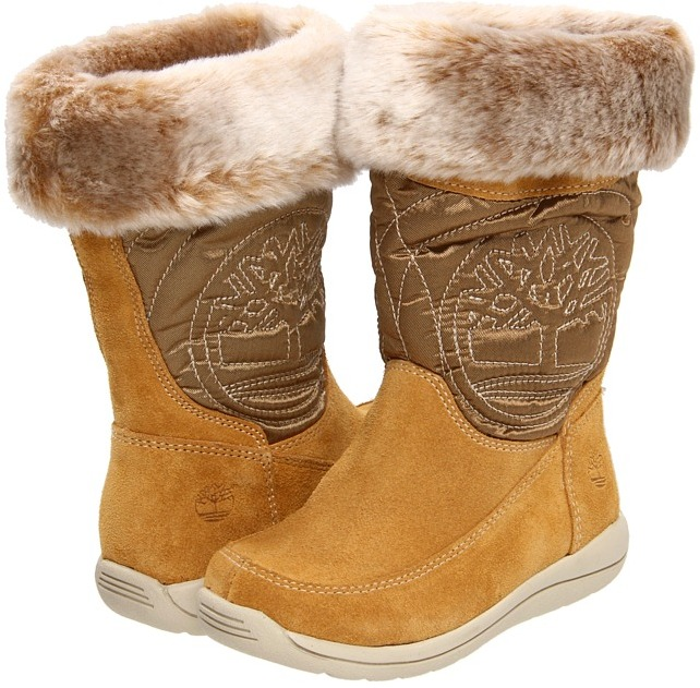 Timberland Kids - Hollyberry Tall Pull-On Boot (Infant/Toddler) (Wheat Suede) - Footwear