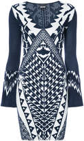 Just Cavalli graphic pattern dress