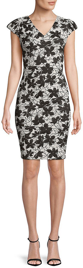 Thumbnail for your product : Calvin Klein Floral Shift Dress