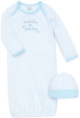 Little Me Baby-Boys Newborn Thank Heavens Gown And Hat