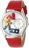 Whimsical Watches Women's S0620011 Firefighter Black Leather Watch