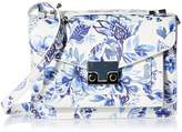 Loeffler Randall Mini Rider Printed Leather Bucket Cross Body