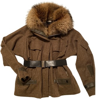 Dries Van Noten Brown Wool Coats