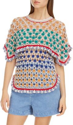 Isabel Marant Tassel Multicolor Crochet Sweater