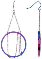 Trina Turk Gypsy Chain Design Hoop Earrings