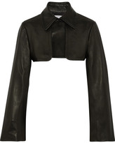 J.W.Anderson Cropped Leather Jacket - Black
