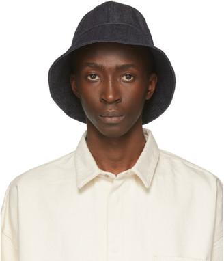 Jil Sanderand Navy Denim Bucket Hat