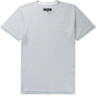 Rag & Bone Classic Air Striped Linen-Blend T-Shirt