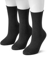 Women's SONOMA Goods for LifeTM 3-pk. Soft & Comfortable Roll Top Crew Socks