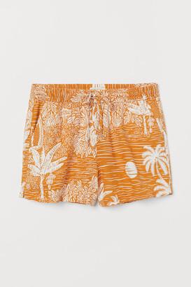 H&M Linen-blend Shorts - Yellow
